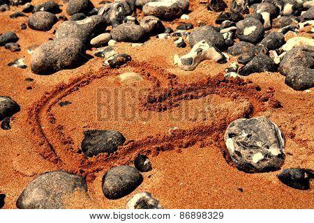 Beach stones, love