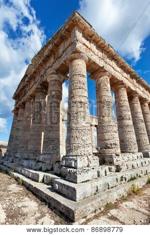 Greek Temple Of Segesta, Sicily