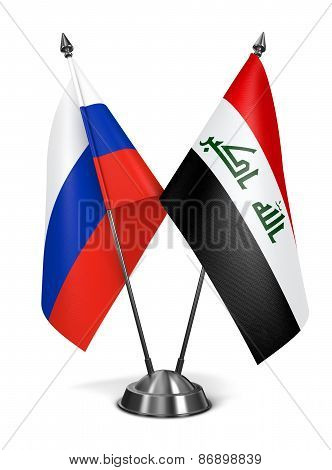 Russia and Iraq - Miniature Flags.