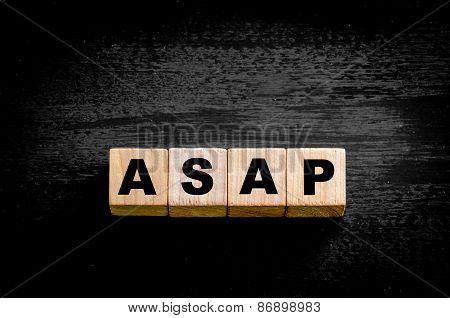 Word Asap -  As Soon As Possible