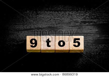 Numbers 24/7  Isolated On Black Background