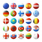 pic of flags world  - World flags round badges - JPG
