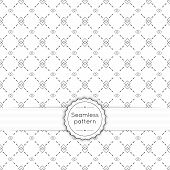 stock photo of diagonal lines  - Vector seamless pattern with vintage old banner and ribbon - JPG