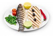 picture of pangasius  - Close up of pangasius and sea bass - JPG