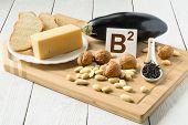 stock photo of walnut  - Foods containing vitamin B2 - JPG
