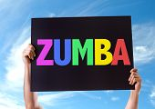 foto of samba  - Zumba card with sky background - JPG