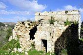 picture of abandoned house  - Abandoned house of Arab Lifta village near Jerusalem Israel - JPG