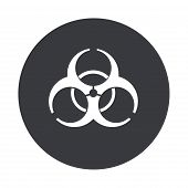 stock photo of nuke  - Vector modern radiation gray circle icon on white background - JPG