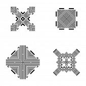 picture of tribal  - Set of Tribal and Ethnic Elements - JPG