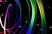 foto of swirly  - Abstract swirly lines futuristic space background - JPG