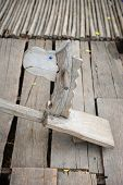 picture of seesaw  - vintage seesaw board with cute horse head in Thailand - JPG