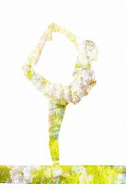 picture of ashtanga vinyasa yoga  - Nature harmony healthy lifestyle concept  - JPG