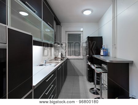 Modern Black Kitchen Interior
