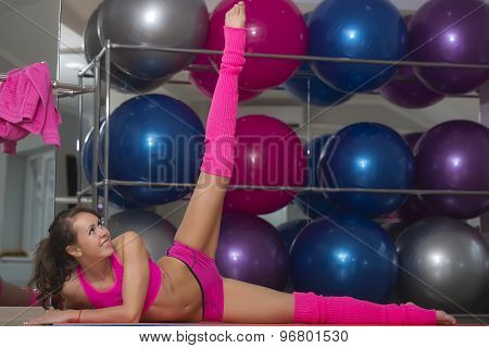 Flexible Sexy Fitness Woman