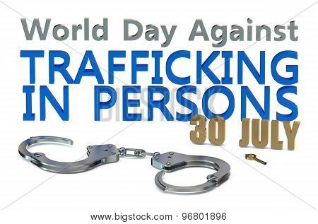 World Day Against Trafficking In Persons Concept