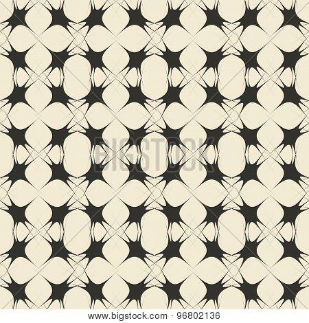 Geometric ornament seamless pattern.  Textile design template seamless background. Round, polygonal
