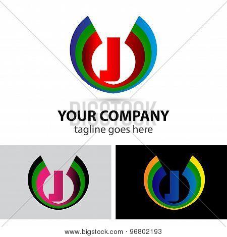 Letter J logo set