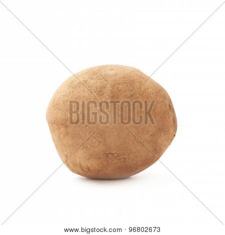 Dirty earth potato isolated