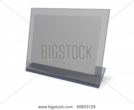 Isolated Empty Horizontal Picture Frame Standing