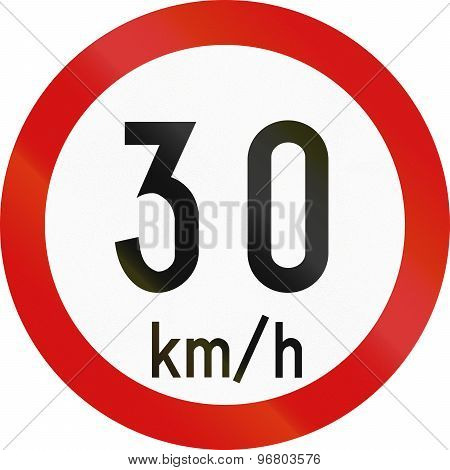 Speed Limit 30 In Ireland
