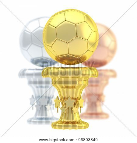 Award football sport trophy cup