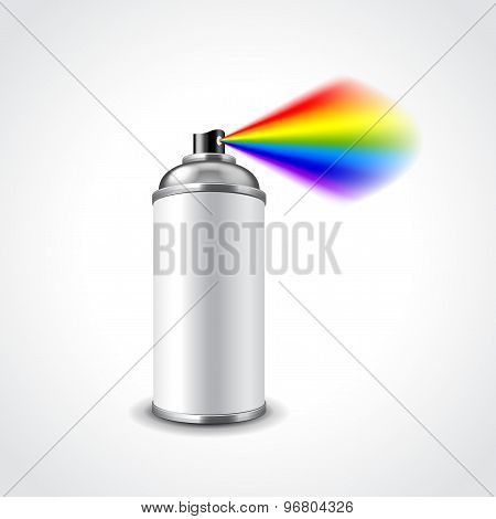 Aerosol Spray Can Vector Illustration