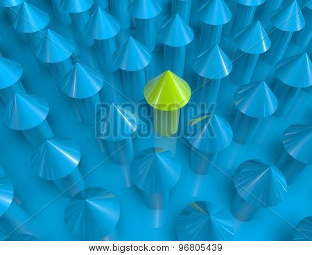 Growth Concept With Green And Blue Arrows