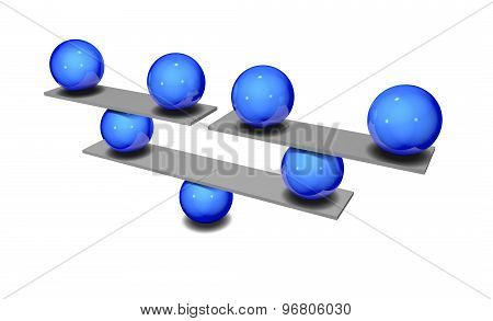Construction Idea With Blue Balls, Constructing Business Idea
