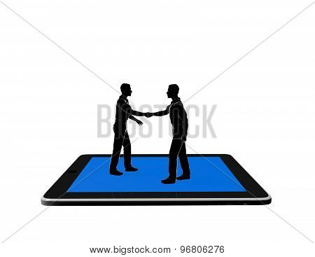 Mobile Communication, On Line Meeting Concept