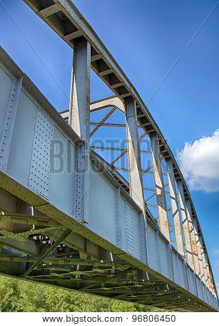 old rusty railway bridge in Hungary