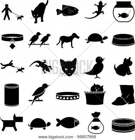 pets symbols set
