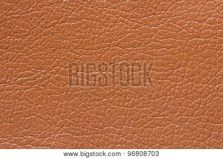 Synthetic Brown Leather Texture Or Background