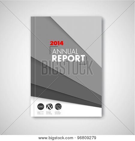 Modern Vector abstract brochure / book / flyer design template - black and white version
