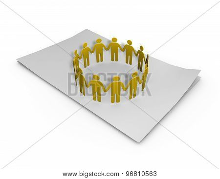 Team Planning On Paper Sheet Abstract Illustration
