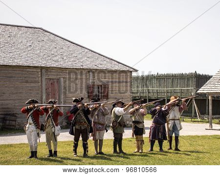 Fort Michilimackinaw Musket Demonostration