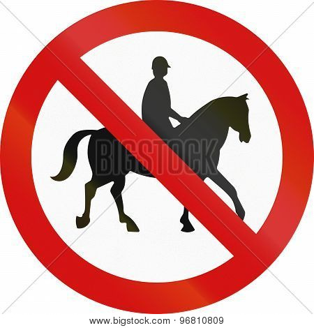 No Equestrians In Ireland