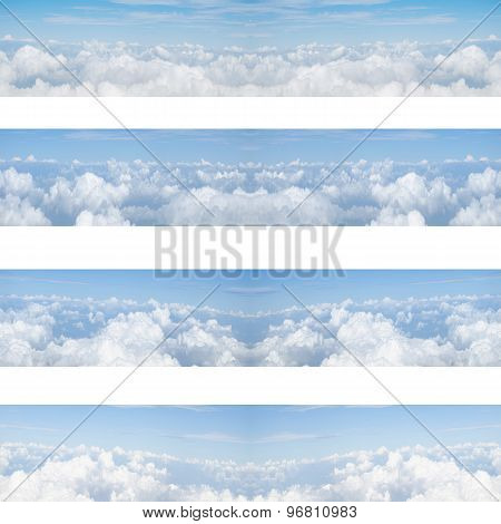 Clouds And Blue Sky Seamless Pattern Background