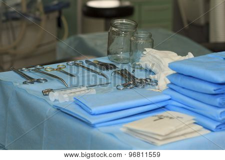 Surgical Instruments On The Table