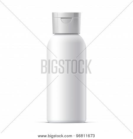 Realistic White Cosmetics Bottle