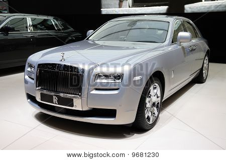Rolls-royce Ghost Silver At Paris Motor Show
