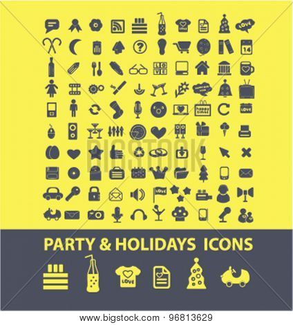 party, holidays icons