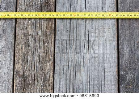 Tapeline On A Wooden Board