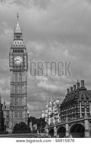 Ole Big Ben in London, Uk