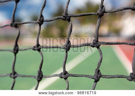 Tennis Net, Outdoor At Empty Court