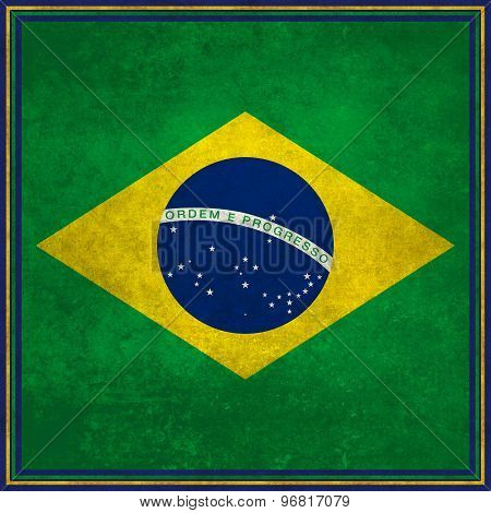 National flag of Brazil, square format