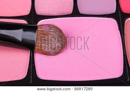 Make-up Blush Palette With Professional Brush