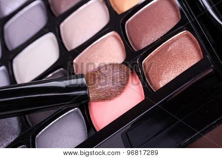 Neutral Eyeshadows Palette With Professional Brush
