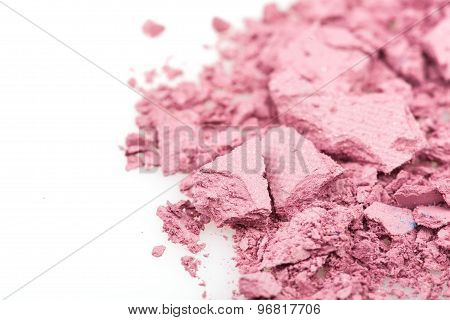 Crushed Eyeshadows On White Background