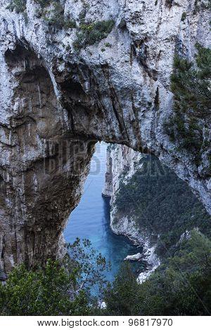 Arco Naturale In Capri, Italy