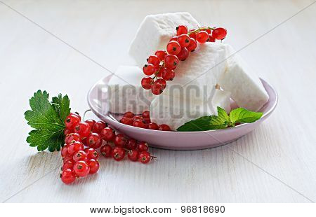 Red Currant And Delicate Souffle